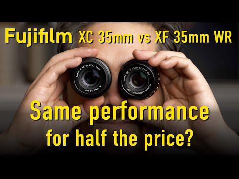 DPReview TV: Fujifilm 35mm XC vs XF. Same performance for half the price?