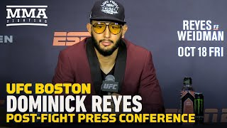 UFC on ESPN 6 Post-Fight Press Conference: Dominick Reyes - MMA Fighting