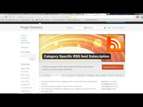 Category Specific RSS Feed Plugin