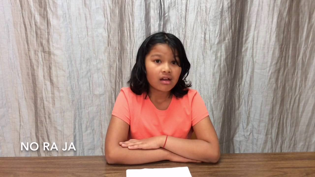 4th Grade Student Council Secretary Speeches - YouTube