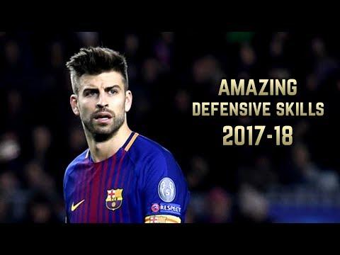 Gerard Piqué 2017-18   Amazing Defensive Skills