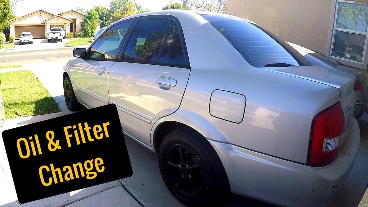 2000 Mazda Protege ES Oil and Oil Filter Change - 1.8L or 1.6L - YouTube