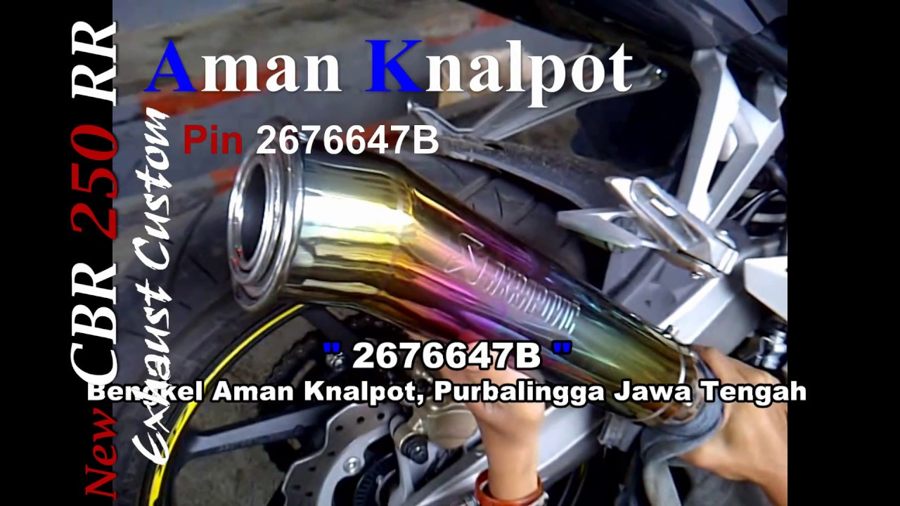 New Cbr 250 Rr Akrapovic Gp Megaphone Rainbow Series Prospeed Knalpot Byson Yamaha Exhaust