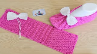 Very Easy Knitting Ladies Shoes, Socks booties knitting Slippers