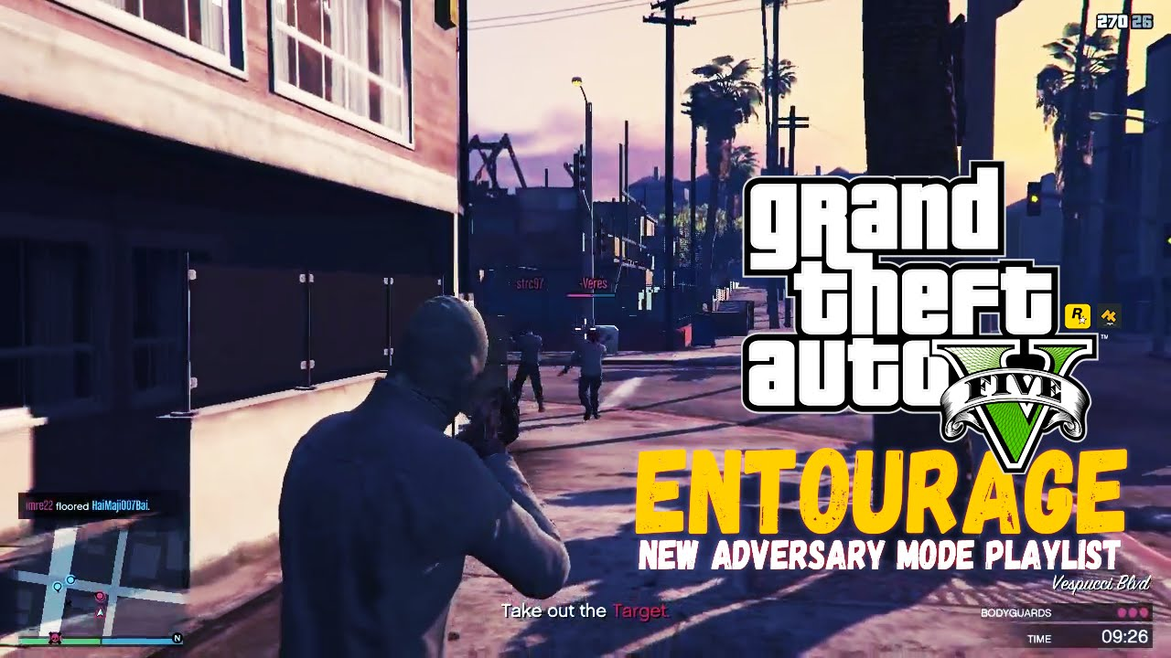 Gta V Online Entourage New Adversary Modes Playlist 3