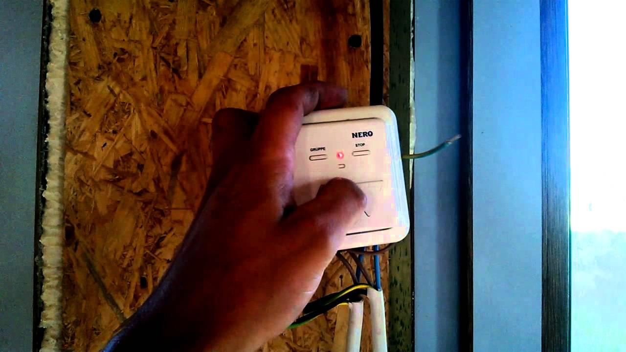 Схема подключения электрической рольставни