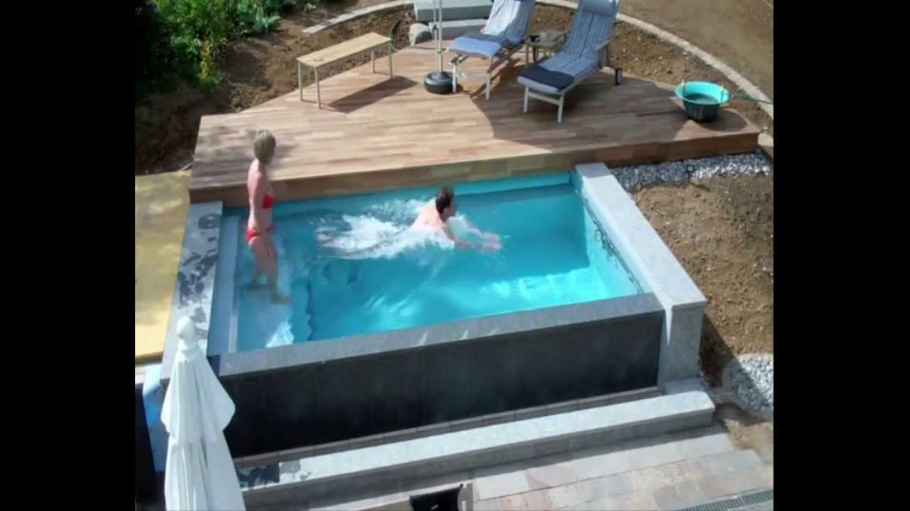 Schwimmbadbau  Dokumentation eines Pool im Garten  im Zeitraffer  YouTube
