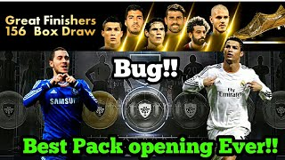 Great Finisher 156 Boz drow || Black ball Trick || Pes 18 Pack Opening