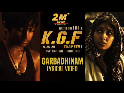 Garbadhinam Song with Lyrics | KGF Malayalam Movie | Yash | Prashanth Neel | Hombale Films|kgf Songs Mp3