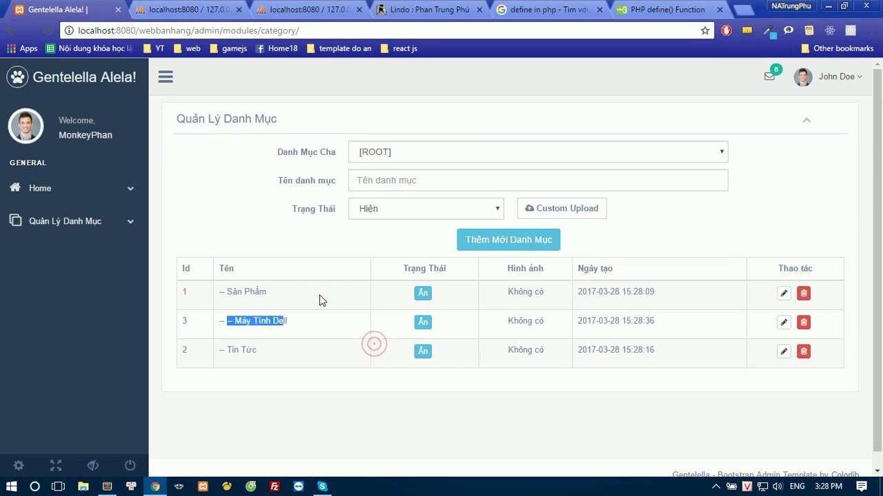 [Codethue.net] - Thêm mới danh mục - Code thuê đồ án CNTT  bài 3