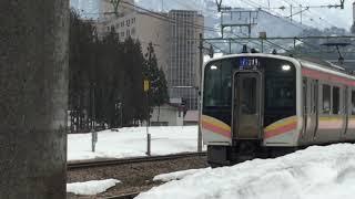 E129系 岩原スキー場前駅発車