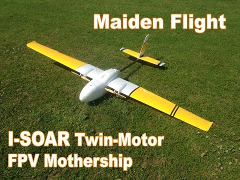 I-Soar One Twin Motor FPV Ship - Maiden Flight