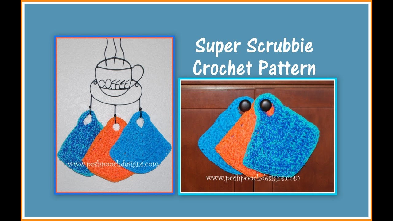 How to Crochet a scrubby with Red Heart Scrubby Yarn - YouTube