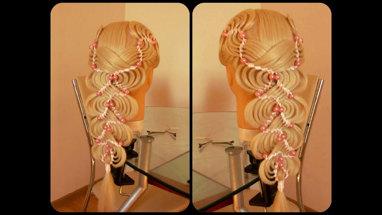 Плетение волос с бусинами