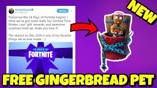 How to UNLOCK FREE GINGERBREAD PET in Fortnite