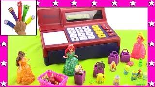 Surprise Toy Cash Register | Princess Ariel shops for Shopkins Season 2 12 pack