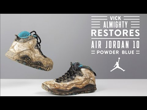 Vick Almighty brings DESTROYED Air Jordan Powder Blue 10's back to life!
