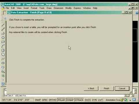 AutoCAD Tutorial - Data Extraction