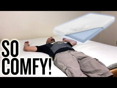 UNBOXING | Comfort & Relax 2 Inch Gel-Infused Memory Foam Mattress Topper