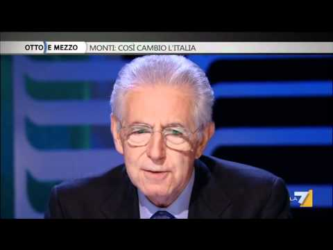 Monti a OttoeMezzo: Posso chiederle se lei è Massone?