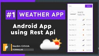 #1 Create UI   Android Weather App using rest API   Android Tutorial 2021 -  تطبيق الطقس screenshot 5