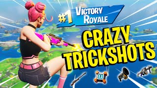 hitting INSANE TRICKSHOTS with the FUNNIEST SQUAD on Fortnite... 😲