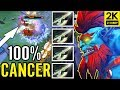 INSANE 4X Halberd 100% CANCER Ace Team Secret Carry Huska Gameplay Dota 2