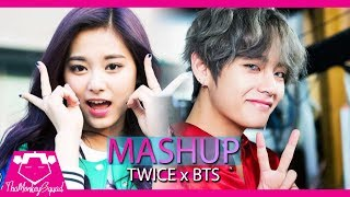 TWICE & BTS - YES OR YES x IDOL [MASHUP] 트와이스 쯔위 (taehyung reaction to yes or yes lol)