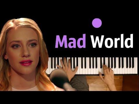 Mad World OST Riverdale ● karaoke  PIANOKARAOKE ● ᴴᴰ + SHEETS & MIDI  orig Gary Jules