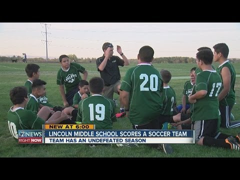 Lincoln Middle School scores a soccer team