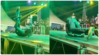Fall Of The Year: Lilwin Massively Falls Down At Fameye Concert