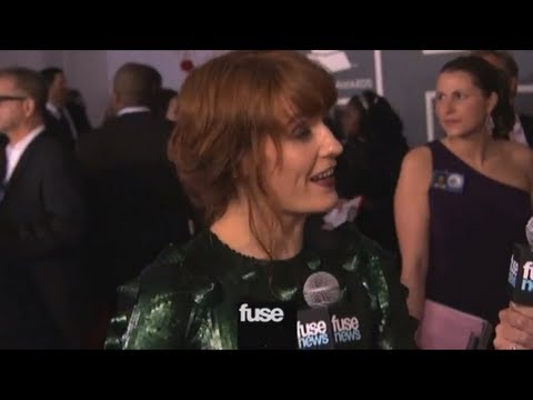 Florence Welch on Grammy Red Carpet - Grammy Awards 2013