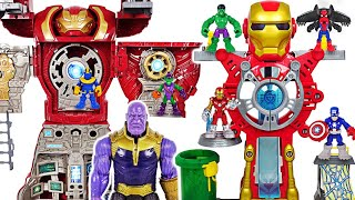 Фото Marvel Avengers Iron Man Headquarters Vs Hulkbuster Ultimate Transform Hq Thanos Dudupoptoy