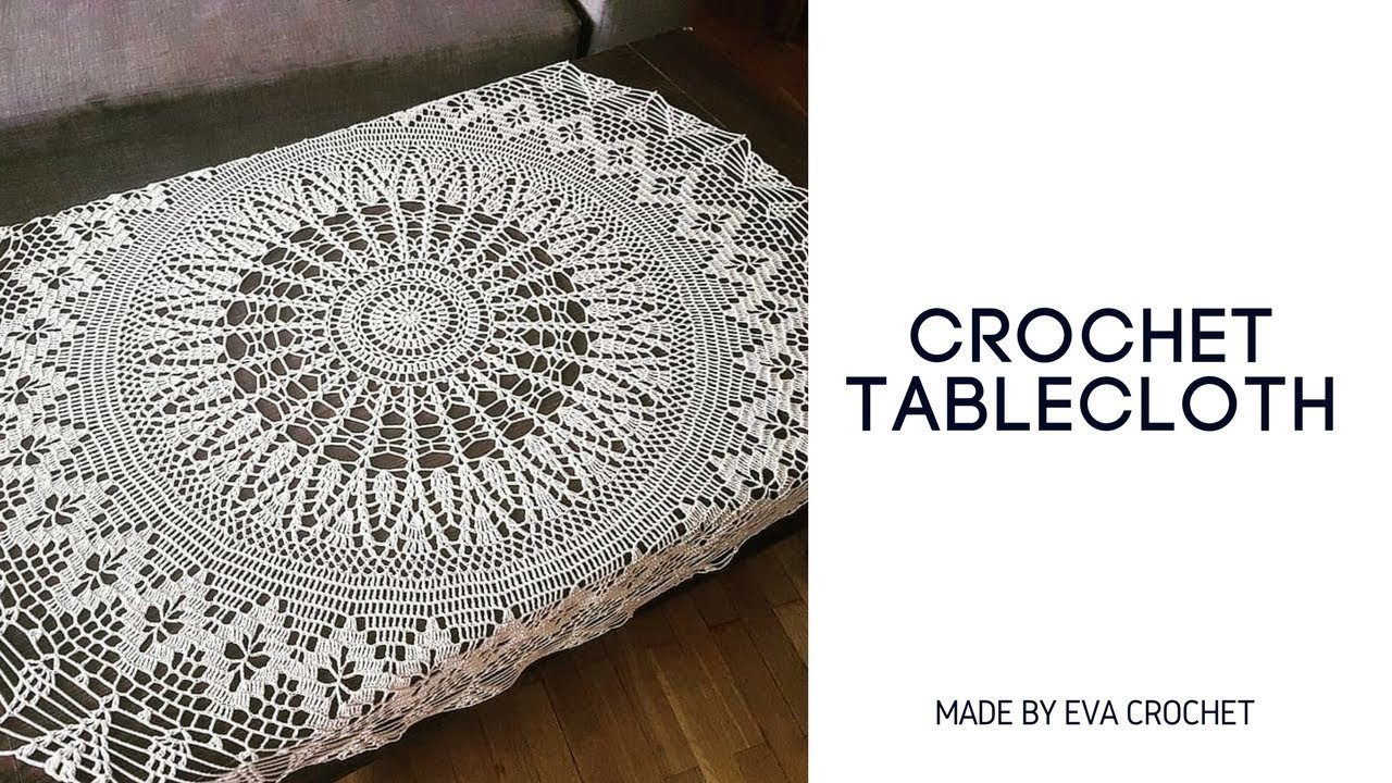Easy crochet tablecloth obrus na szydeku round big crochet easy crochet tablecloth obrus na szydeku round big crochet doily bankloansurffo Choice Image