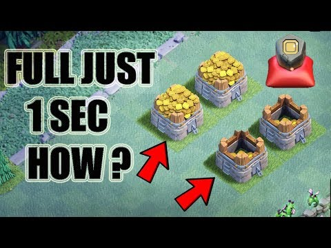 (HINDI) FILL YOUR  STORAGES IN JUST 1 SEC ? IN CLASH OF CLANS