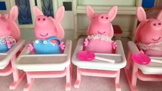 PEPPA PIG Bebés manchan el pañal de colores Vídeos de Peppa Pig 64#Juguetes en español