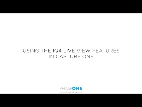 Support | Using the IQ4 live view from Capture One | Phase One