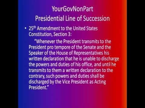 Presidential Line of Succession