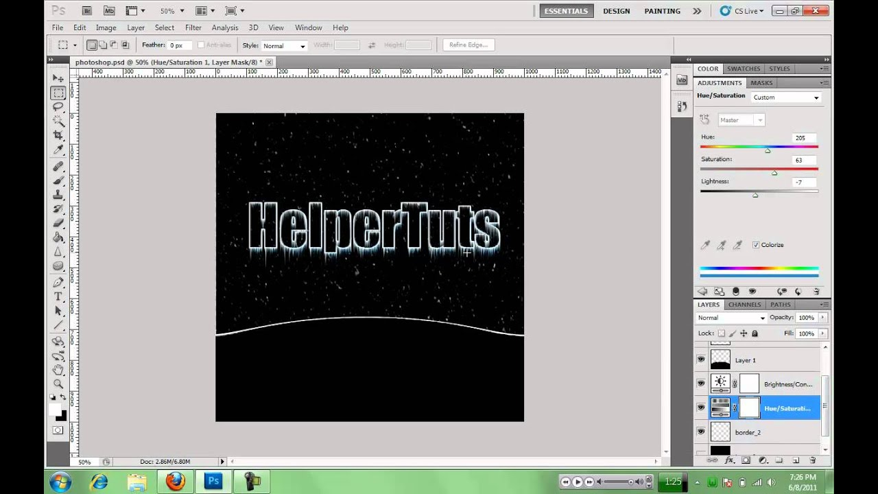 how to make a logo in photoshop cs5
