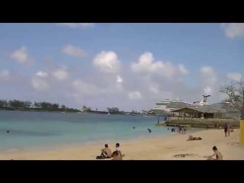 free things to do junkanoo Beach Nassau Bahamas right by cruise port
