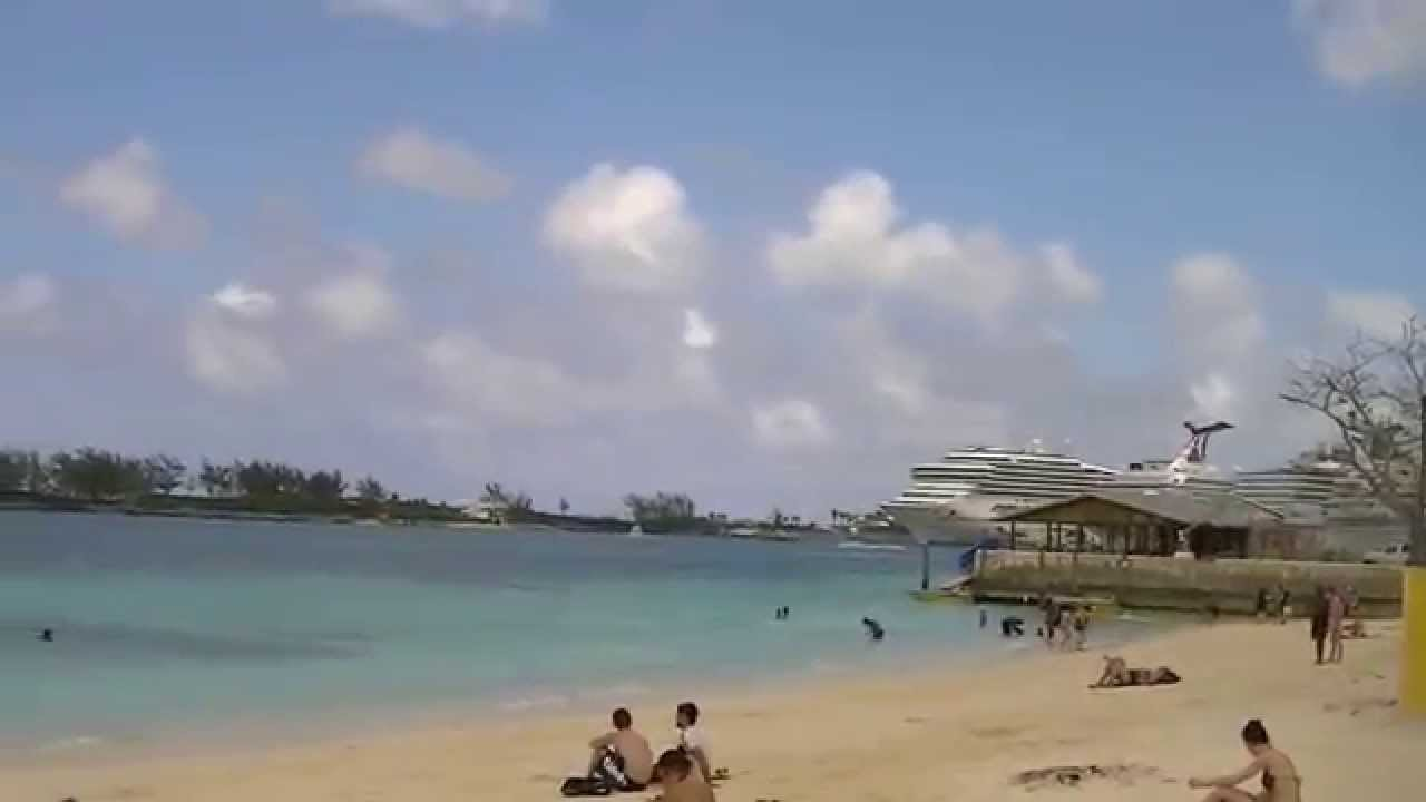 Free things to do junkanoo beach nassau bahamas right by cruise port youtube - Cruise port nassau bahamas ...
