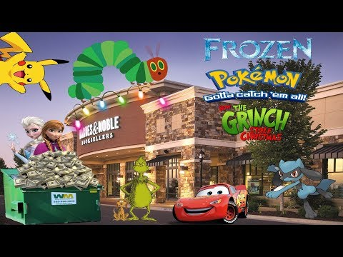 Struck It Rich Dumpster Diving At Barnes & Noble! Frozen, Pokemon, The Grinch + More!