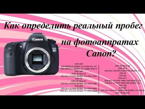 Как определить пробег фотоаппарата Canon