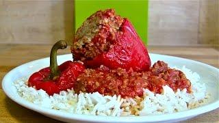 gefüllte Paprika-gefüllte Paprika ganz klassisch zubereitet mit Hackfleisch und Reis