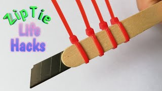 11 ZIP TIE LIFE HACKS THAT CAN MAKE YOUR LIFE BETTER