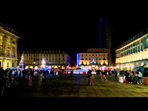 JUST A FRIDAY NIGHT IN TURIN CENTRE. TORINO PALACE ITALIA