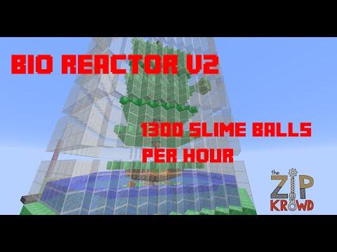 Minecraft Slime Farm Tutorial - Bio Reactor v2 (1300 Slimeballs/h)