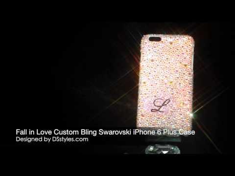 Fall In Love Custom Swarovski Crystal Bling IPhone 6 Plus Case