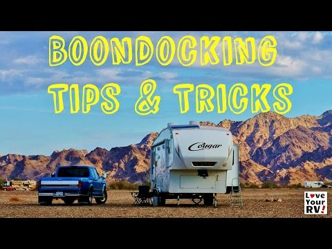 Basic Boondocking Tips and Tricks for Newbie RVers