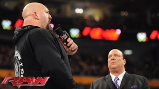 Big Show forces Paul Heyman to consider his future: Raw, Sept. 28, 2015